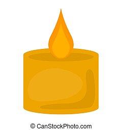Isolated yellow candle image