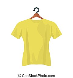 yellow tshirt design, Cloth fashion style wear and store theme Vector illustration