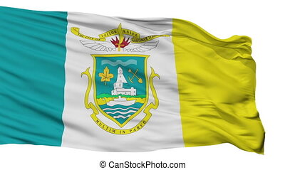 Isolated Yellowknife city flag, Canada - Yellowknife flag,...