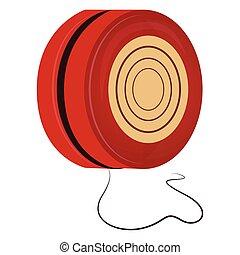 Isolated yo-yo toy - Yo-yo isolated on white background,...