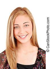 Young blonde teen portrait