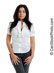 young sexy hispanic woman