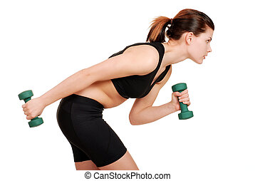 young woman working out