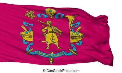 Isolated Zaporizhia Oblast flag, Ukraine - Zaporizhia Oblast...