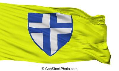 Isolated Zapresic city flag, Croatia - Zapresic flag, city...