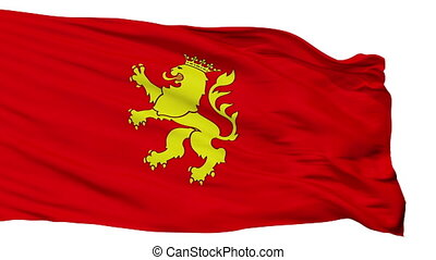 Isolated Zaragoza city flag, Spain - Zaragoza flag, city of...