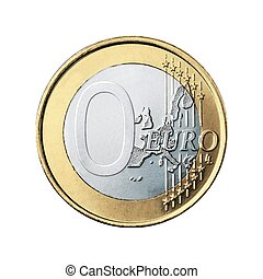 isolated zero euro coin
