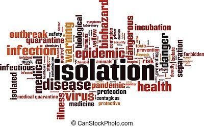 isolatie, woord, wolk