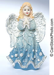 Christmas angel - Isolation of a Christmas angel holding