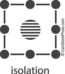 Isolation symbol glyph icon