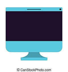 isolato, computer, mostra, icona
