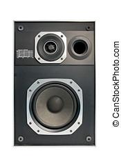 isolato, due, hifi, modo, audio, altoparlante