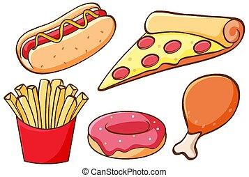 isolato, fast food, set