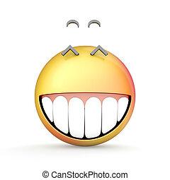 isolato, illustrazione, fondo., bianco, emoji, 3d