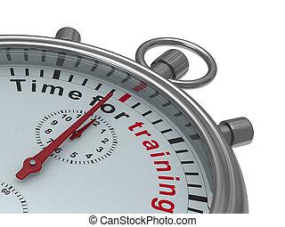 isolato, illustrazione, fondo., tempo, cronometro, training., bianco, 3d