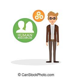 isolato, illustrazione, persona, umano, icon., risorse, design.