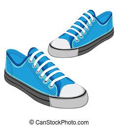 isolato, illustrazione, scarpe