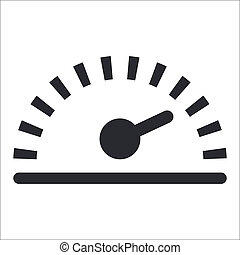 isolato, illustrazione, singolo, vettore, velocità, icona