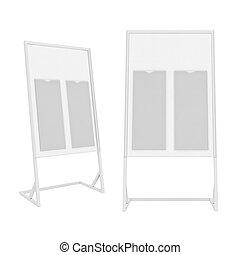 isolato, interpretazione, fondo, stare in piedi, bianco, 3d