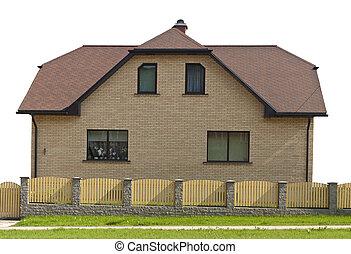 isolato, one-story, casa