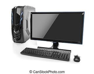 isolato,  PC,  computer,  desktop