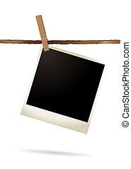 isolato, polaroid, singolo
