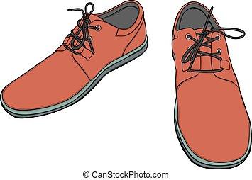 isolato, scarpe