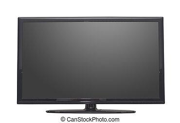 isolato, schermo piano tv, o, monitor computer