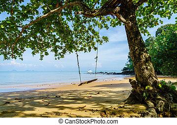 isolato, spiaggia, isola