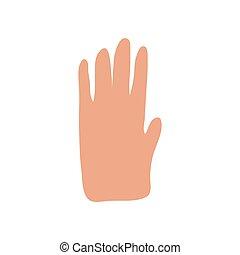 isolato, stile, bianco, fondo., mano, semplice, scarabocchiare, icona