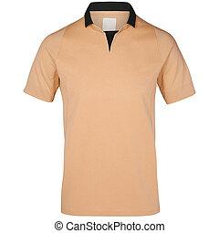 isolato, t-shirt, fondo., vuoto, polo, bianco