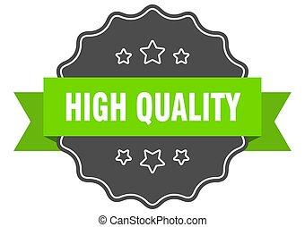 isolato, verde, alto, qualità, label., seal.