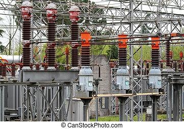 isolator switches of the power station to produce...