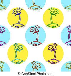 isole, fondo, palma