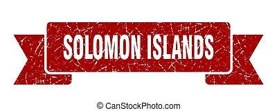 isole, grunge, banda, solomon, ribbon., rosso, segno