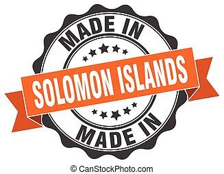 isole, solomon, fatto, rotondo, sigillo