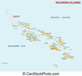 isole, solomon, mappa