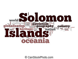 isole solomon, parola, nuvola