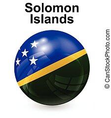 isole, solomon, ufficiale, bandiera, stato