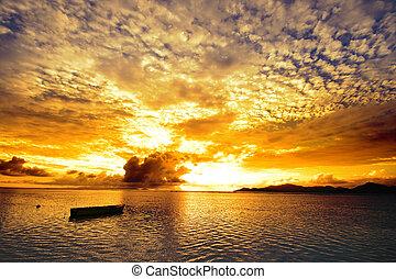 isole, tramonto