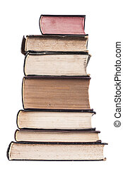 Isoled Pile of Books