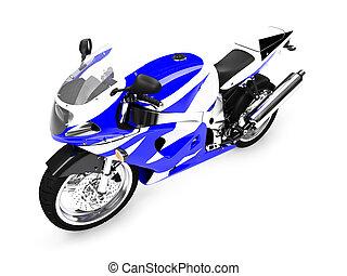 isoleret, motorcycle, forside udsigt