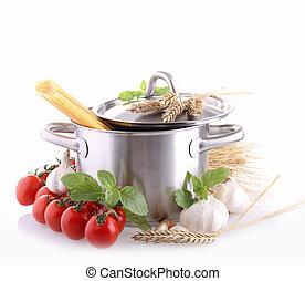isoleret, pan, hos, ingrediens