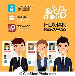 isoleret, rekrut, lejet, konstruktion, menneskelige ressourcer