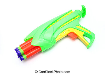 isoleret, stykke legetøj, skum, dart kanon
