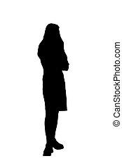 isoleret, ung kvinde