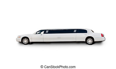An isolated limousine on white