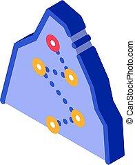 isométrico, manera, puntos, icono, dirección, montaña, alpinism