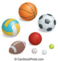 isométrico, pelotas, set., deportes