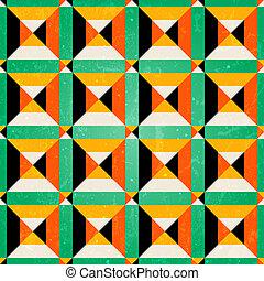 isométrico, seamless, patrón, en, retro, style.